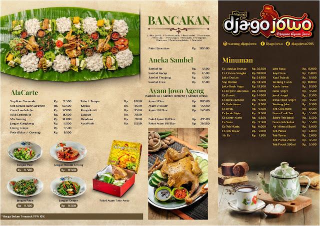 daftar menu nasi box djago jowo purwokerto