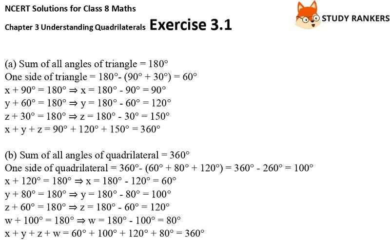 NCERT Solutions for Class 8 Maths Ch 3 Understanding Quadrilaterals Exercise 3.1 6