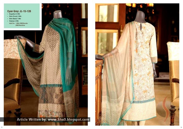 Junaid Jamshed Embroidered Lawn 2015 Collection