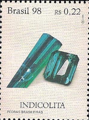 Turmalina. Brasil, 1998. Colección filatélica de Pedro Fandos Rodríguez