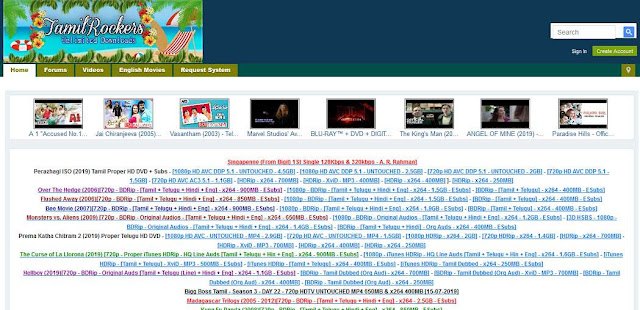 Tamilrockers 2019 - Top New Tamil Movie Download Website for free 2019