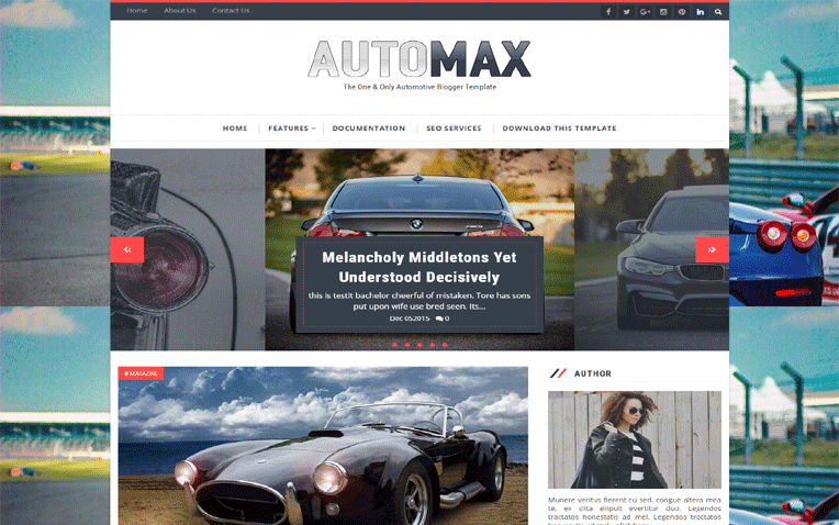 Automax Free Blogger Template