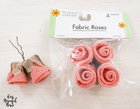 Floral Garden 4 count pink burlap rosettes crafts