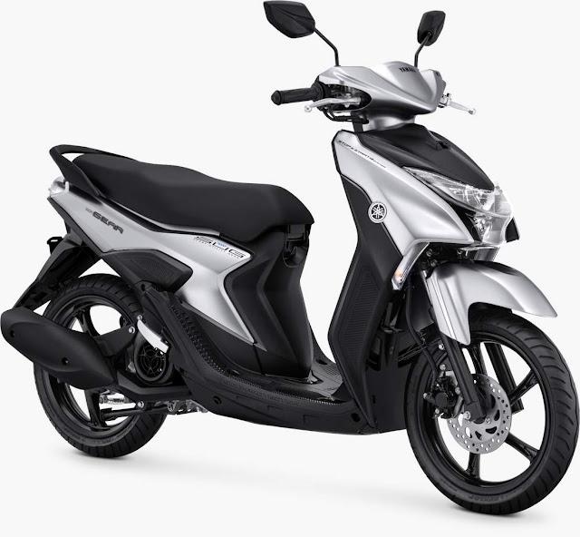 Pilihan warna Yamaha Gear 125 Prestige Silver