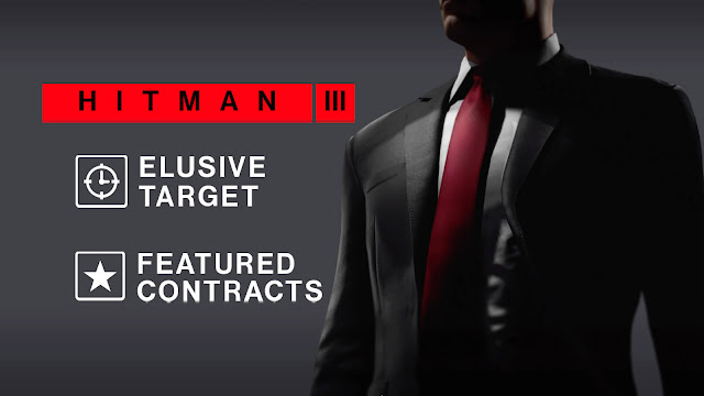 hitman 3 dlc post launch content elusive targets escalation missions world of assassination trilogy stealth action-adventure game io interactive agent 47