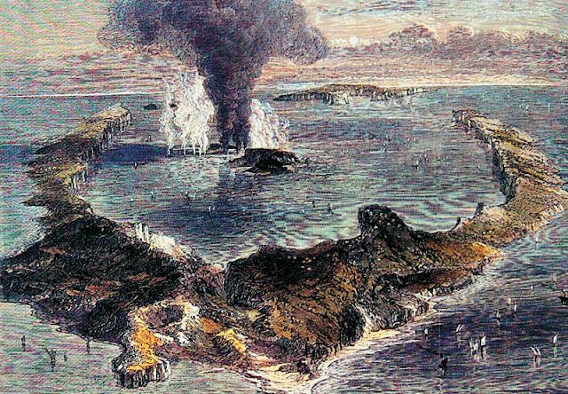 Αποτέλεσμα εικόνας για η έκρηξη του ηφαιστείου ΣΑΝΤΟΡΙΝΗΣ