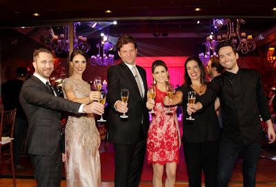Lucas, Chris, Bertolazzi, Beca, Elisa e Hugo (Crédito: Gabriel Gabe/SBT)