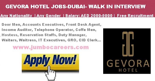 Gevora hotel Dubai jobs salary. Gevora hotel Dubai Staff Recruitment 2018.