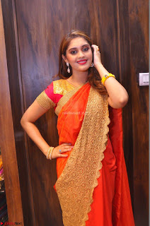 Surabhi looks stunning in Saree at Nakshatra Fashion Store Launch at Suchitra X Road 07.JPG