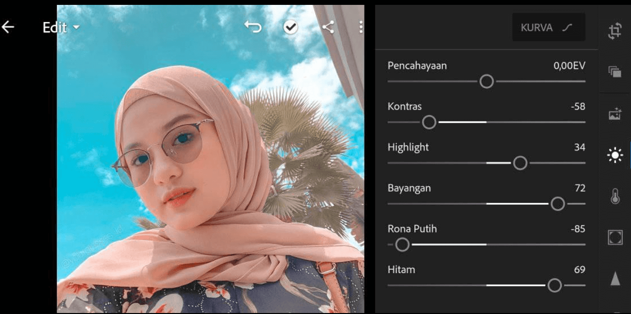 2 Rumus Lightroom Selfie Ala Selebgram & Glowing Terbaru 2020