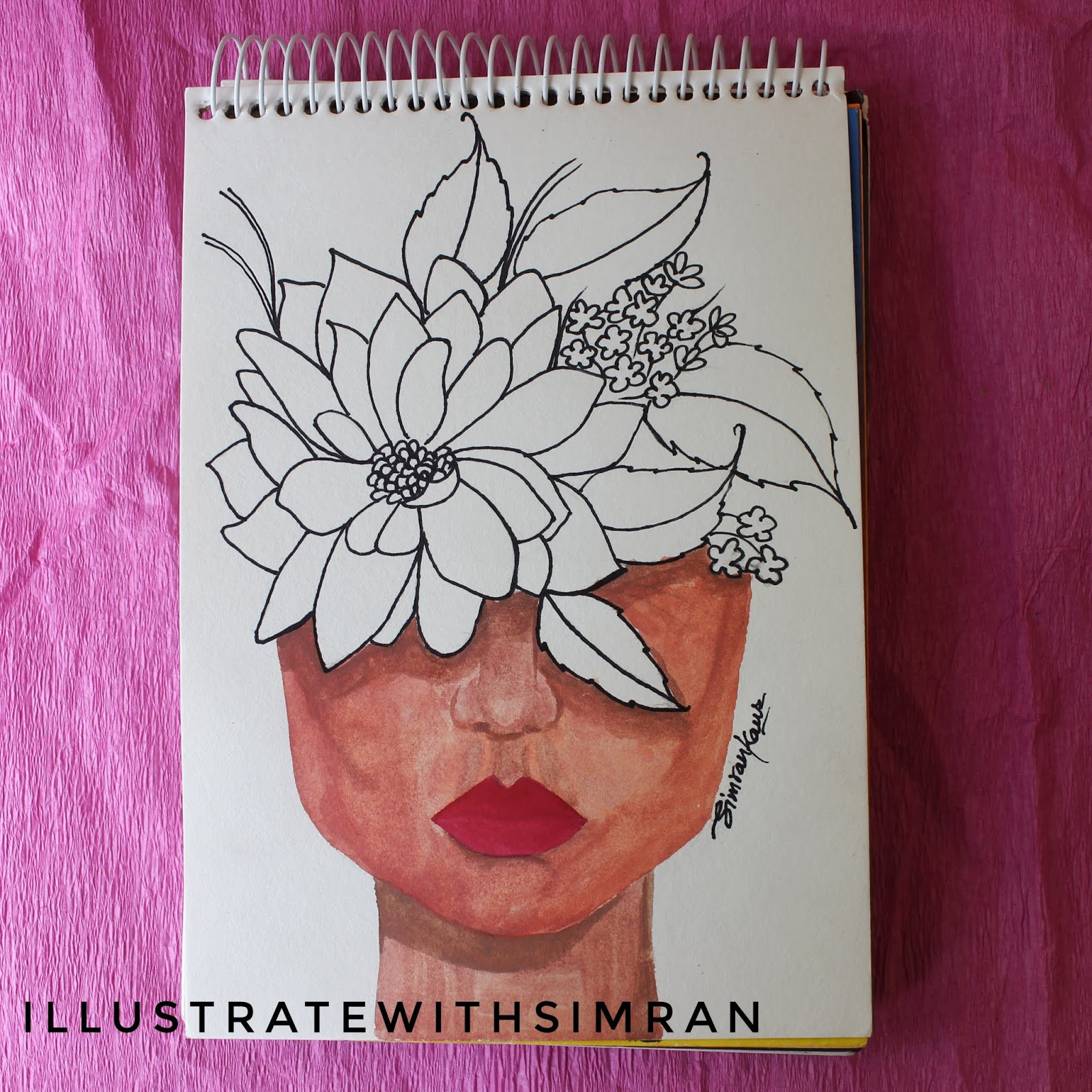 Best Flower Crown Painting Idea Illustrate With Simran