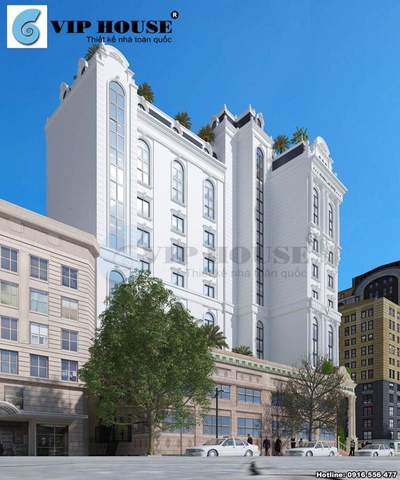 Hình ảnh: Thiết kế khách sạn 2 mặt tiền Hương Lan Hotel khi được nhìn từ góc nghiêng