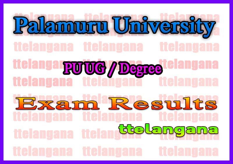 Palamuru University Degree 2nd 3rd Year Annual Exam  Time Table