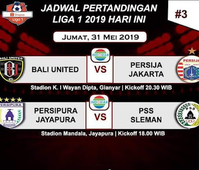 Live Streaming Persipura Jayapura vs PSS Sleman 31.5.2019