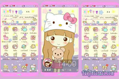 donwload tema vivo hello kitty characters