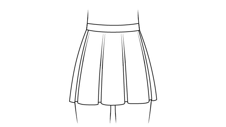Rok anime dengan gambar lipatan