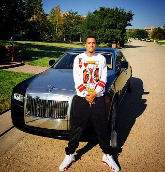 866bc114edbae5 Celeb Sneaker Game  French Montana Wearing Air jordan Candy Cane 14 s
