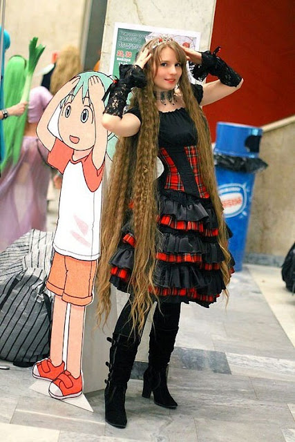 Rapunzel girl with very long hair