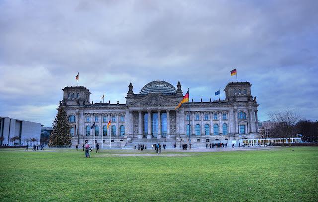 Palácio do Reichstag em Berlim em dezembro
