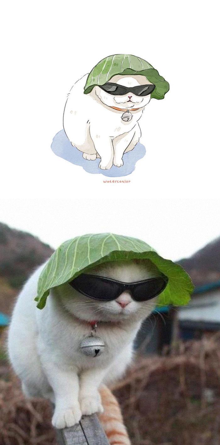 11 Gambar Lukisan Kucing Yang El Dan Menarik