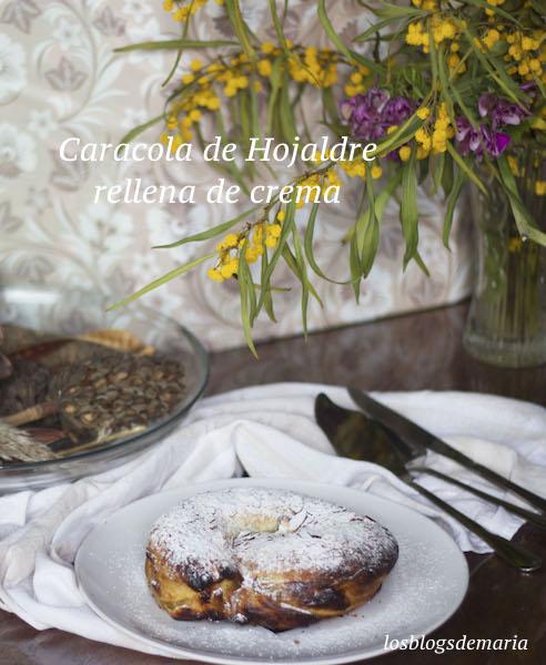 Caracola de hojaldre rellena de crema