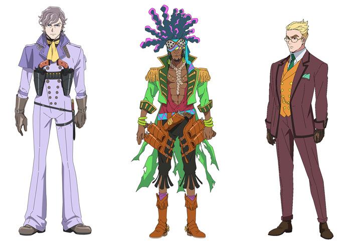 Appare-Ranman! anime (P.A. Works) - personajes
