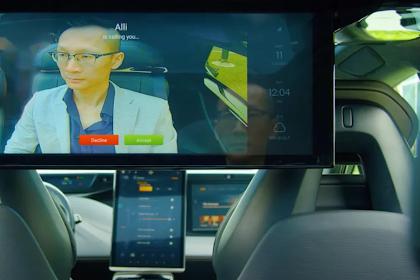 Perusahaan Ini Mengembangkan Fitur Video Conference  Pada Mobil Listrik