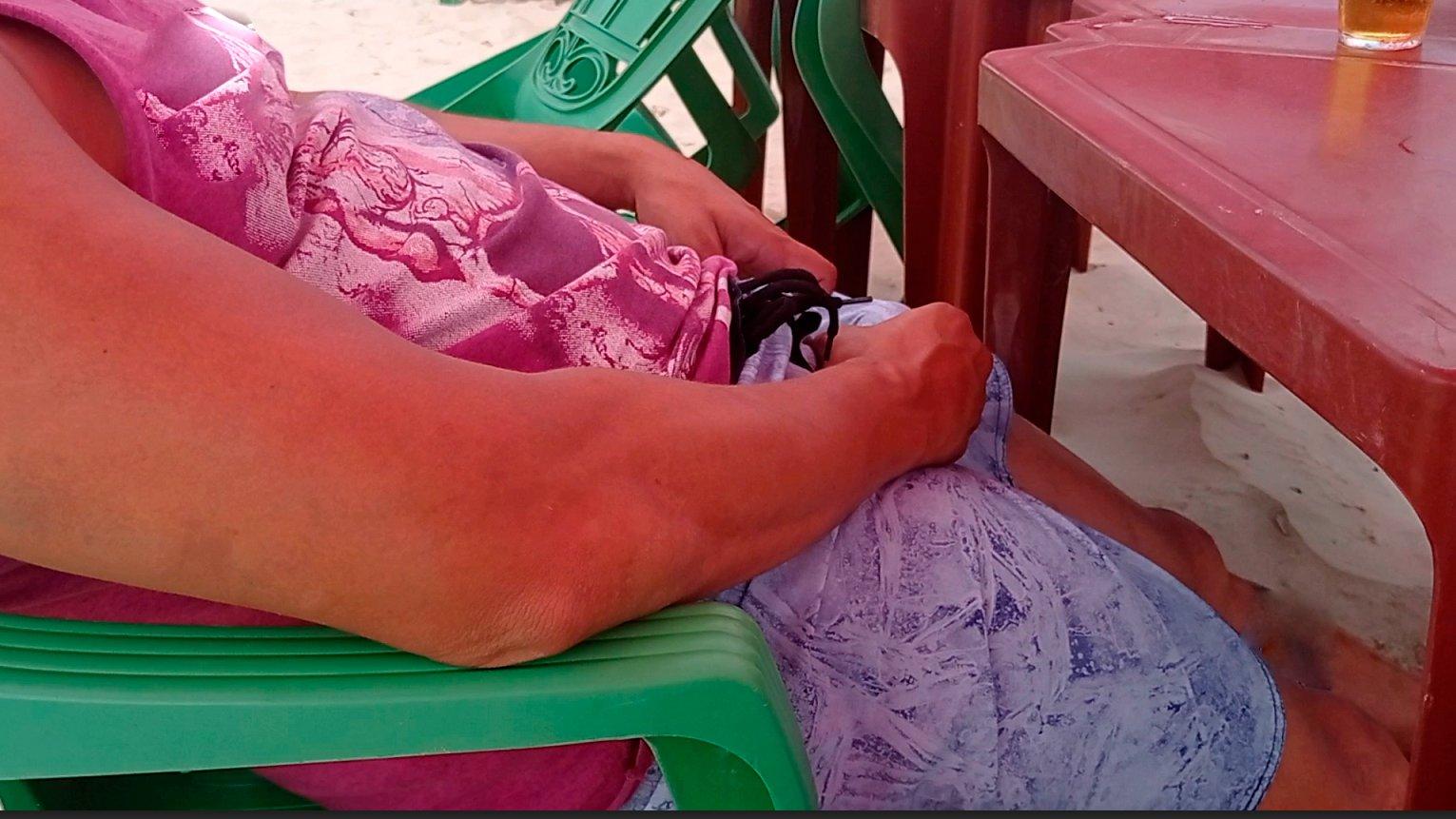 duro en la playa