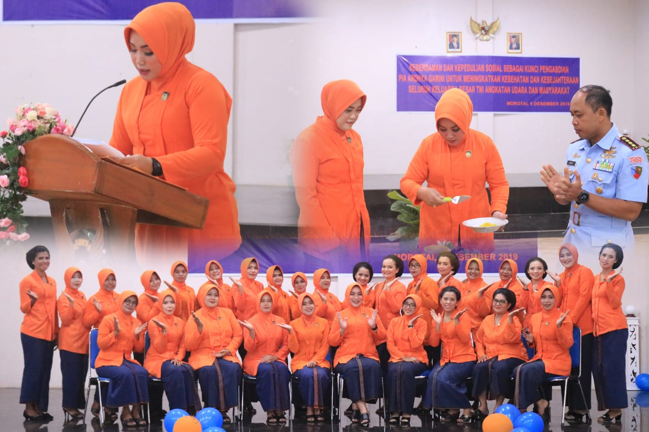 PIA Ardhya Garini Cabang 8/D III Lanud Leo Wattimena Memperingati HUT PIA Ardhya Garini Ke-63 Tahun 2019
