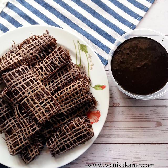 resepi roti jala sos coklat viral mudah