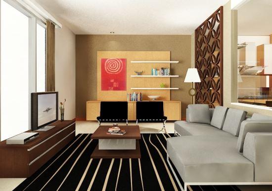contoh Ruang Keluarga modern dengan gaya minimalis