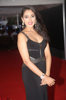 Madhu Shalini in a Glamorous Deep neck Black Sleeveless Dress at Mirchi Music Awards South 2017 ~  Exclusive Celebrities Galleries 048.JPG