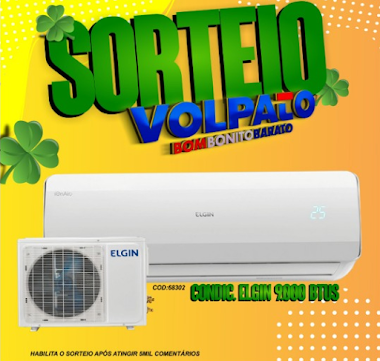 Sorteio - Concorra a um Ar Condicionado Lojas Volpato