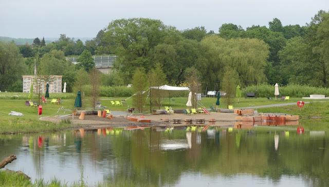 Landesgartenschau Bayreuth 2016 - Wasserspielplatz Fossillilinseln