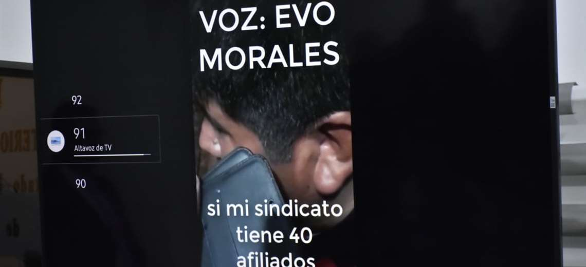 Grabación de noviembre en la que Morales, desde México, instruye a Yujra