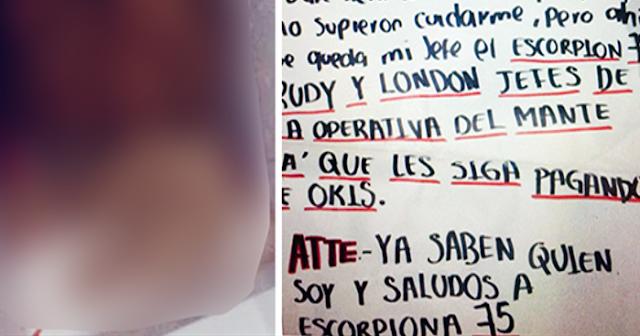 """Ya no lo busquen, lo dejaron bien decapitado al GOPES en Tamaulipas, ya saben quien soy y un saludo para """"El Escorpión 75"""""""