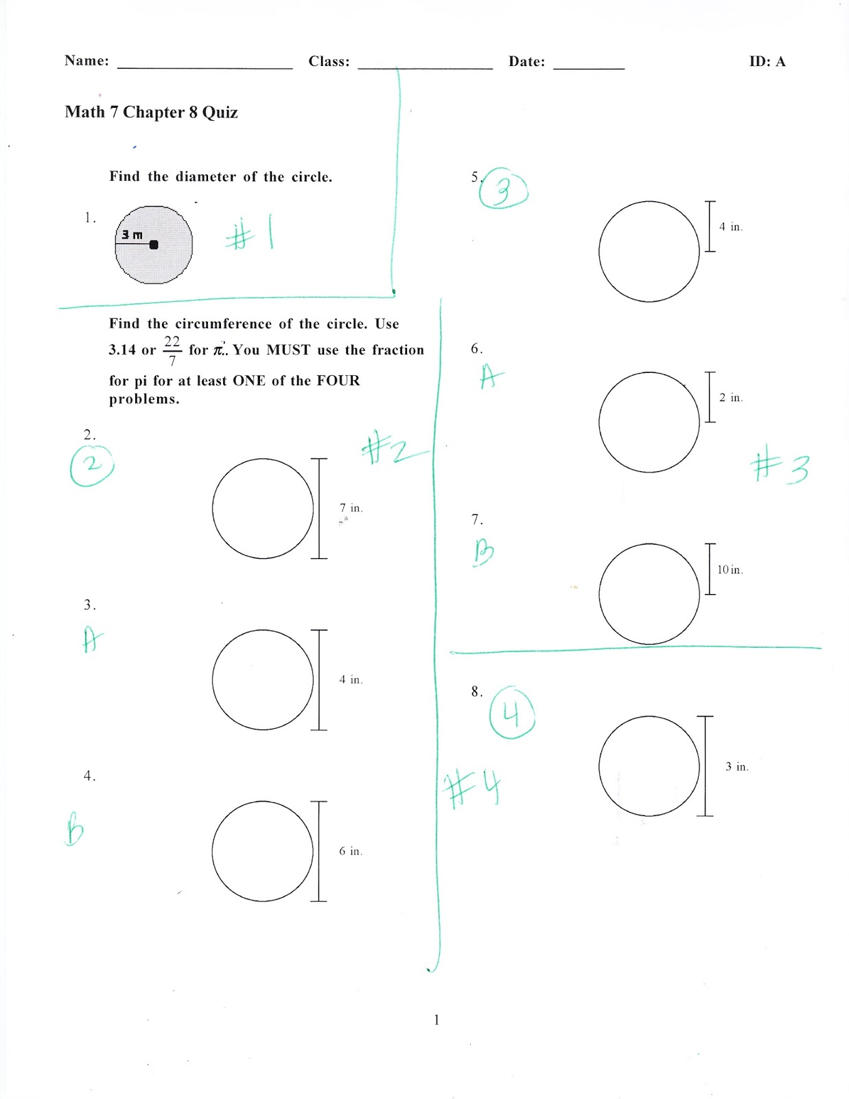 Ms. Jean's Classroom Blog: Math Chapter 8 Quiz Extras