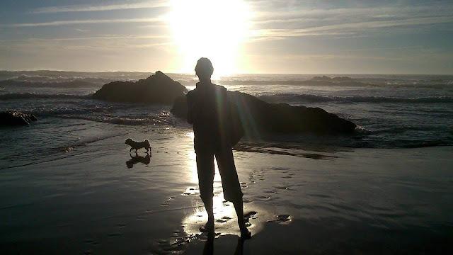 海辺を歩くプラナーダの写真