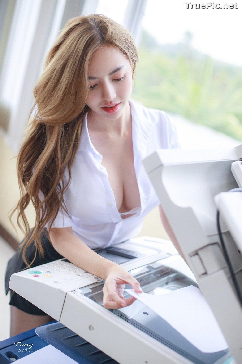 Image Thailand Model - Champ Phawida - Sexy Secretary and Office Uniform - TruePic.net - Picture-10