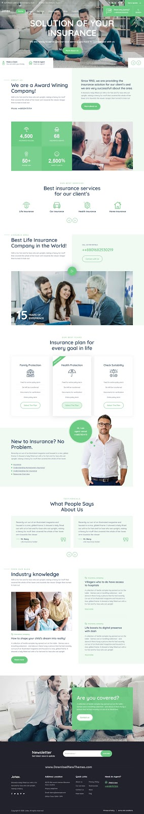Insurance Business Professional Website Template
