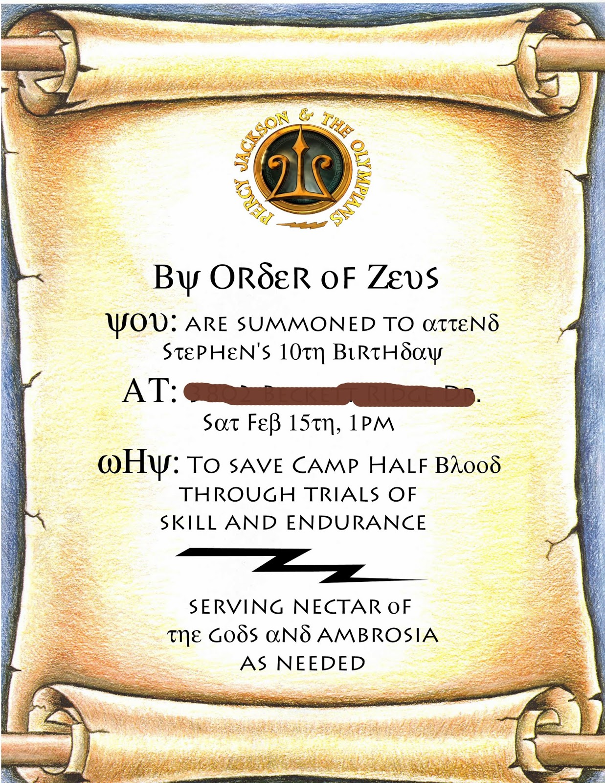 Instruction Manual For A Percy Jackson Party