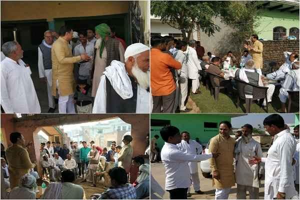 bjp-leader-sohan-pal-singh-campaign-prithla-village-khandawali-ladhiyapur
