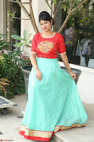 Lucky Shree Looks super cute in Bright Red Green Anarkali Dress ~  Exclusive 007.JPG