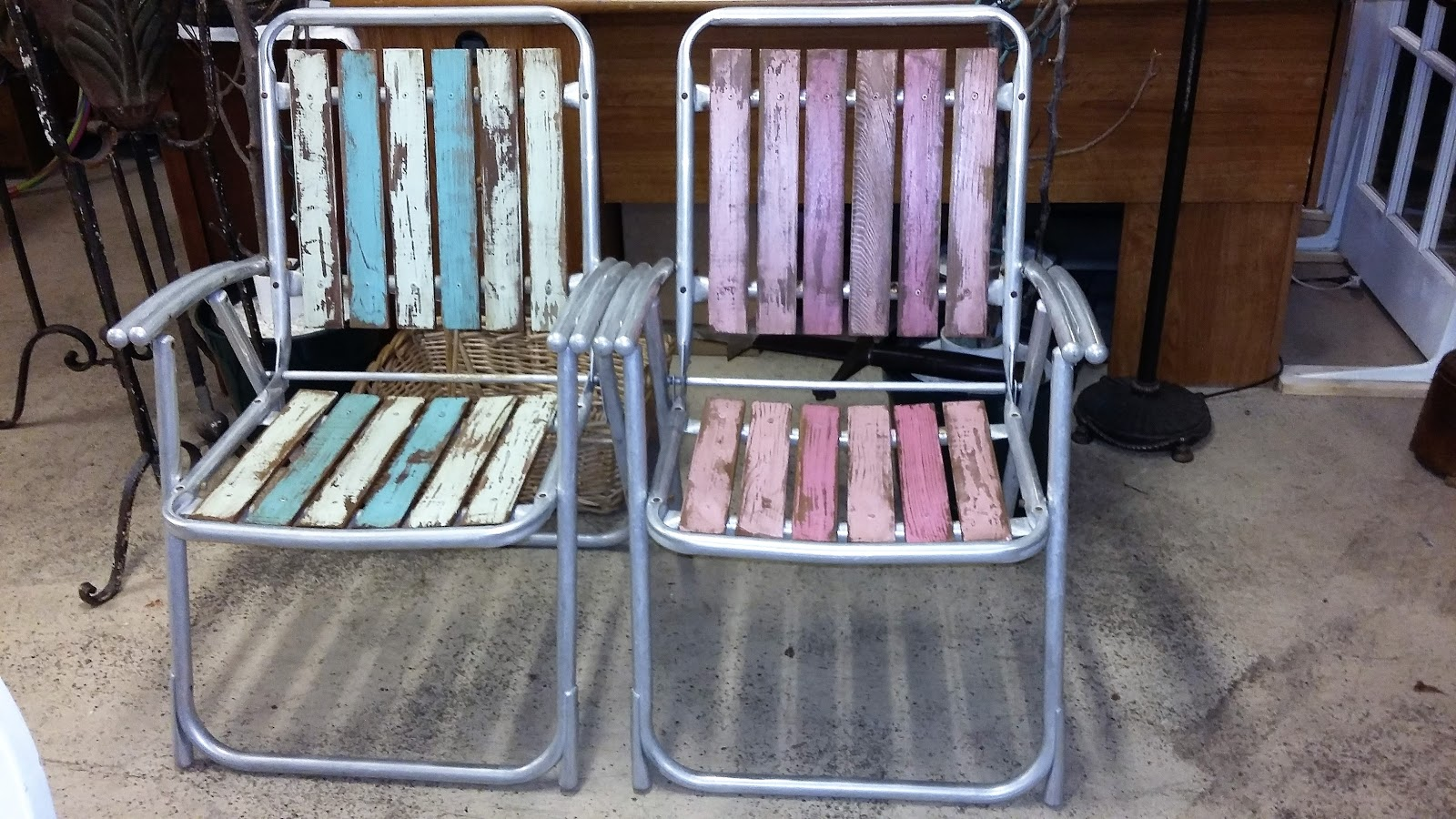 folding chair upcycle retro metal garden chairs coastal bohemian vintage