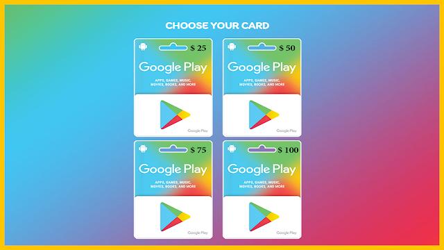 Free Google Play Gift Card Codes Generator
