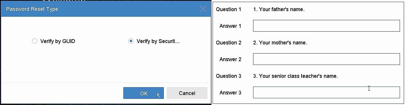 LTS reset password NVR DVR