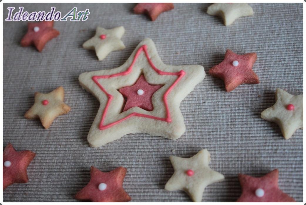 Galletas estrellas vainilla