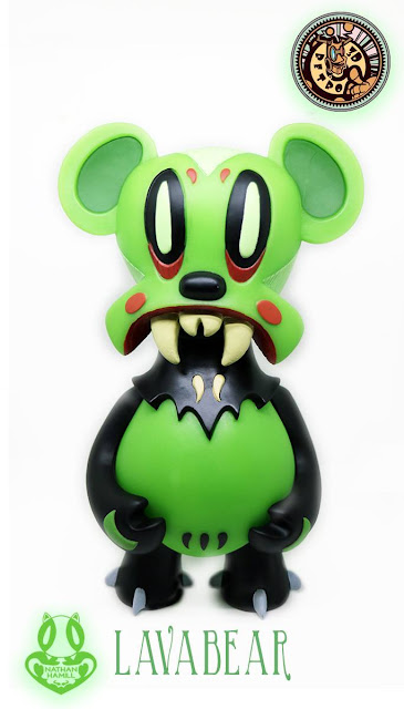 San Diego Comic-Con 2015 Exclusive Glow in the Dark Edition Lavabear Vinyl Figure by Nathan Hamill