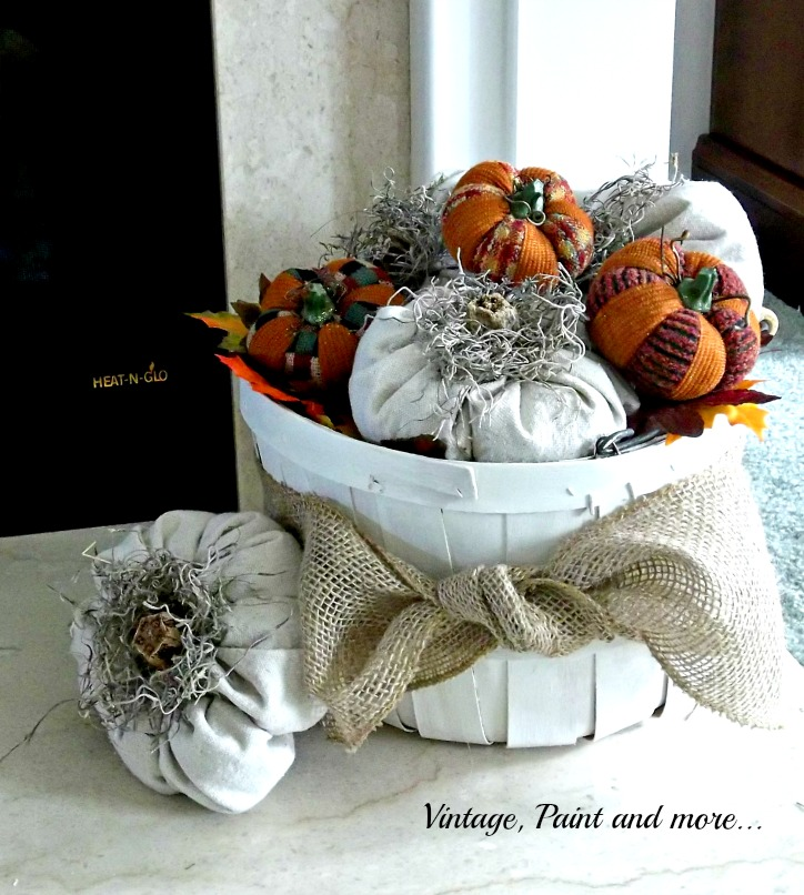 Vintage, Paint and more... Drop Cloth Pumpkins