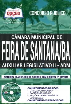 Apostila Concurso Câmara de Feira de Santana 2018 Auxiliar Legislativo II – Administrativo